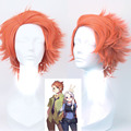 Paidian 12inch Movie Zootopia Rabbit Nick Wilde Fox Cosplay Wig Orange Synthetic Party Hair