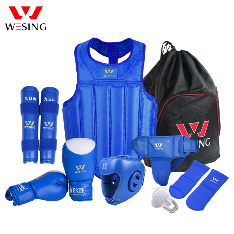 Wesing Martial Arts Gear Wushu Sanda Protector жиынтығы 8 - Спорттық киім мен керек-жарақтар - фото 2