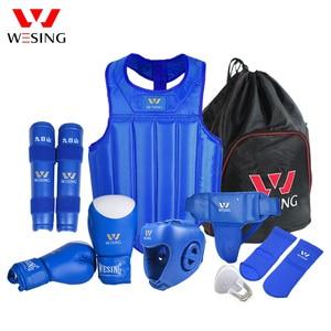 Image 2 - Wesing Martial Arts Gear sets Wushu Sanda Protector Sets 8 Pcs Sanda Competition Equipments for Training