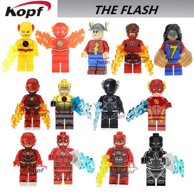Single Sale The Red Yellow Flash Spiderman Spider-man Spider-Woman Building Blocks Super Heroes Bricks Best Children Gift Toys super heroes single sale the villain of yellow lantern skeletor heman he man he man building blocks toys for children gift kf921