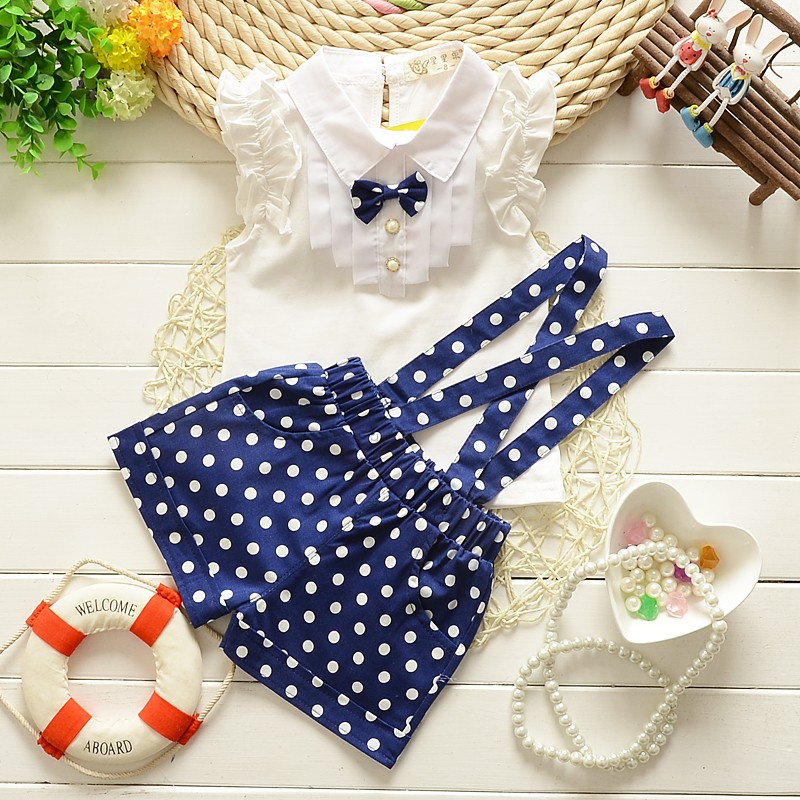 2015-summer-baby-girls-newyear-Christmas-outfit-clothing-sets-chiffon-plaid-t-shirt-overalls-pant-baby (2)