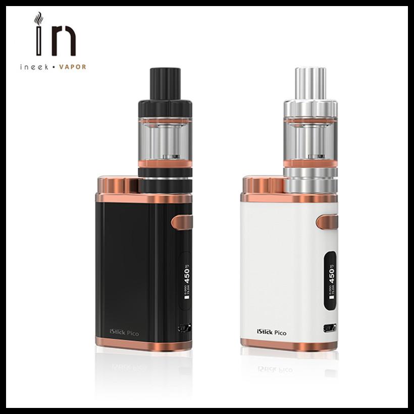 Prix pour Nouvelle couleur 100% D'origine Véritable Eleaf iStick Pico Kit avec 75 W électronique Boîte Mod et MELO III Mini Réservoir 2 ml Melo 3 atomiseur