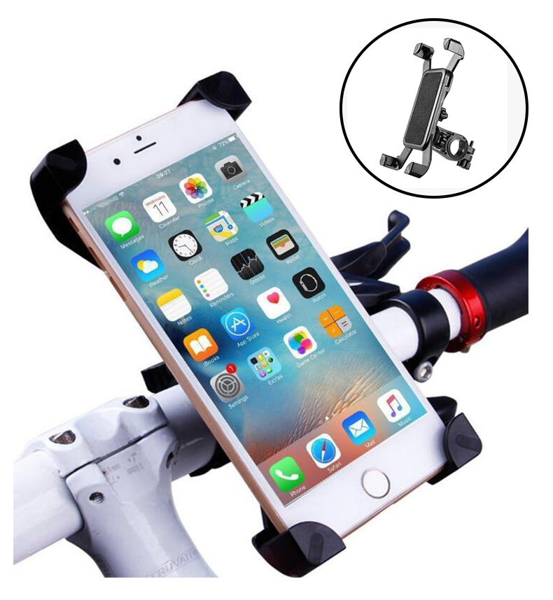 Aluminum Alloy Bicycle Mobile Phone Seat Navigation Anti-shake Mountain Bike Road Bike Motorcycle Bicycle Mobile Phone Holder
