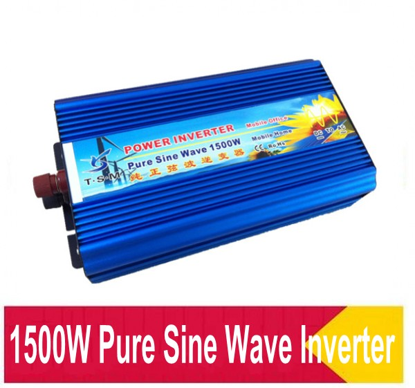 цена на High Frequency 1500W Continuous 3000w Peak power supply Pure Sine Wave Solar Power Invertor 12v to 220v off grid dc ac converter
