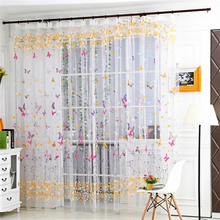 hot deal buy home decor sheer curtains and tulle curtains for living room bedroom door kitchen curtains for window children voile drapes