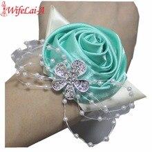 WifeLai-букет из страз с розами и розами для свадьбы, брошь невесты и жениха, брошь с цветком SW0677