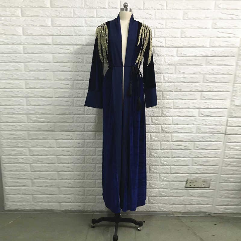 קטיפה העבאיה טורקיה מוסלמי חיג 'אב שמלת Abayas נשים קפטן קטאר הרמדאן קפטן Marocain גלימת דובאי בגדים אסלאמיים תורכי
