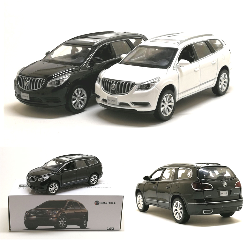 New 1:32 Simulation Buick SUV Die-cast Metal Alloy Car Model Pull Back Flashing Musical Can Open The Door Kids Toys