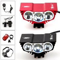 6000 Lm 3x CREE XM L U2 LED Head Bicycle Light Bike Cycling Led Lamp 12000mAh