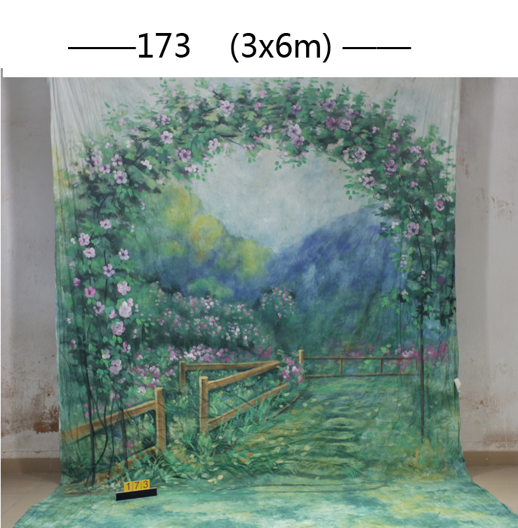 цены 10*20ft Hand Painted Muslin scenic Backdrops for photography,photo studio background backdrop173 , wedding photography backdrops