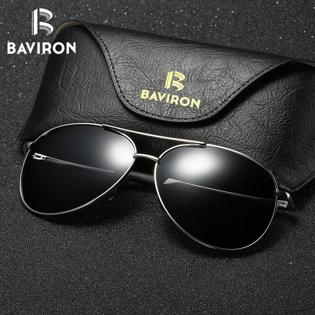 fc60f376ad BAVIRON Pilot Polarized Sunglasses Men Sun Glasses Women Mirror Sunglasses  uva uvb Driving Polarized Glasses Man Polaroied UV400