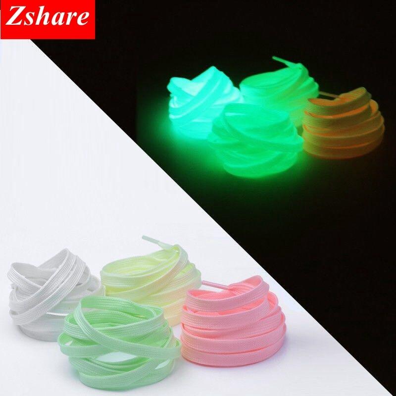 1 Pair Luminous Shoelaces Flat Sneaker ShoeLace Kids Adult Fluorescent Shoe Laces 80/100/120/140CM YG-1