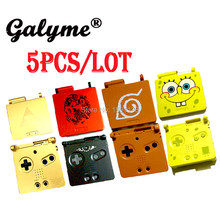 5pcs/lot New Sponge Bob/ Naruto Limited Pattern Plastic Case Fit NintendoGame Boy Advance SP Cover Shell Game Console Housing(China)