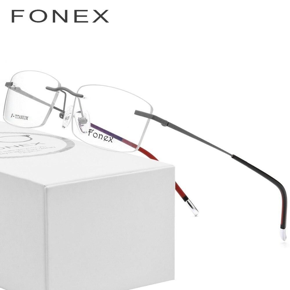 Us 2754 49 Offrimless Glasses Frame Men B Titanium Prescription Eyeglasses Women Ultralight Myopia Optical Light Frameless Korean Eyewear In
