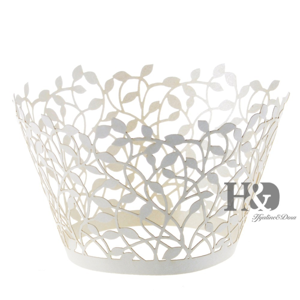 Laser Cut Hollow Out Branches Cake Paper Wrap Cupcake Wrapper ...