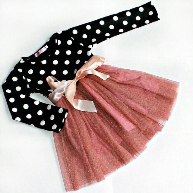d1f16b0160f3c Nueva Otoño Invierno casual bebé Niñas princesa manga larga diario Vestidos  para niña niños ropa para