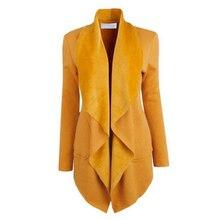 Divat Női Blazer Őszi hosszú ujjú laza tömör hosszú kabátok nőknek Új Vintage Pamut Plus Size Női Blazer kabátok