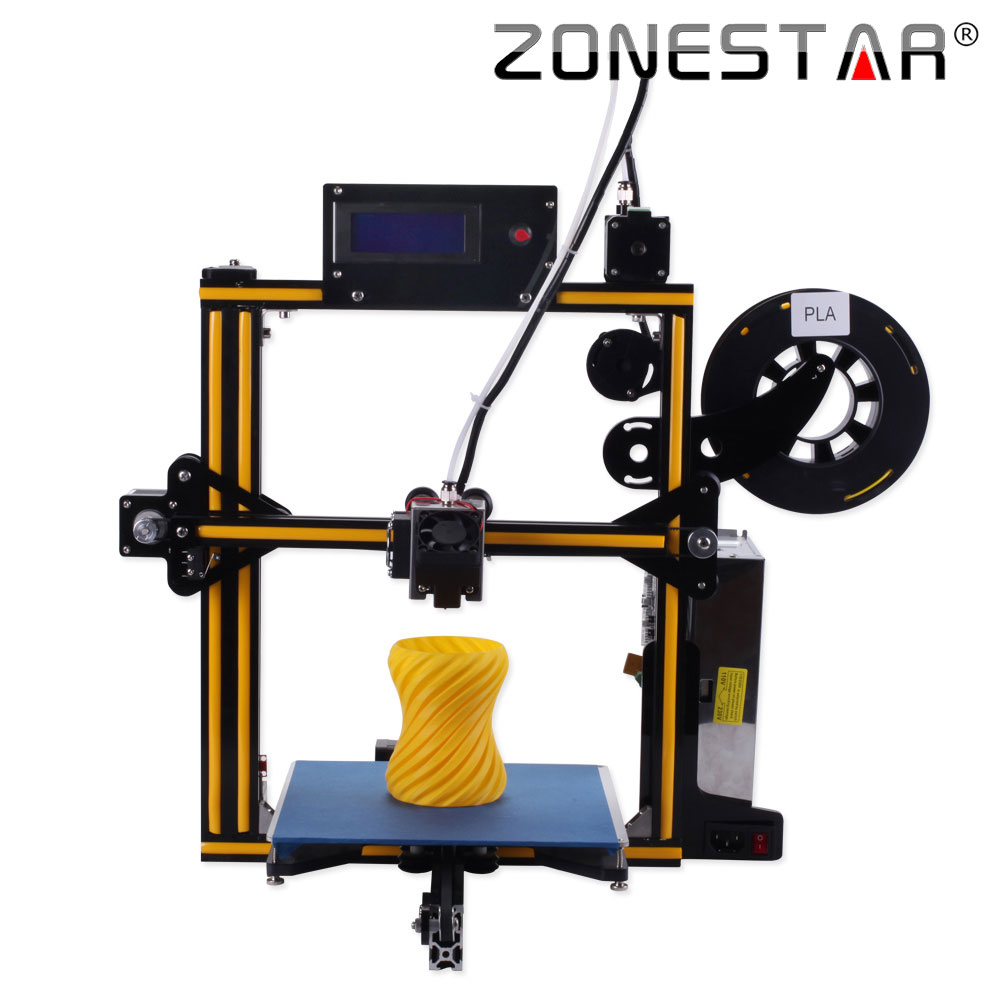 ZONESTAR Newest Upgradable Full Metal Aluminum Frame Optional Auto Leveling Filament Run out Detect 3d printer DIY kit full metal frame heated bed 3d printer professional 3d color printer with 2gb sd card lcd 40m filament for free