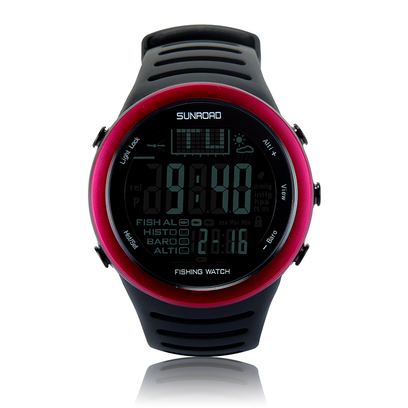 SUNROAD FR720 Men Digital Outdoor Watch-5ATM Waterproof Fishing Weather Altimeter Barometer Thermometer Altitude Climbing Watch
