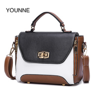 YOUNNE Design Retro Solid Color Handbags Women Leather Mini Shoulder Bags Simple Flap Chain Sling Crossbody
