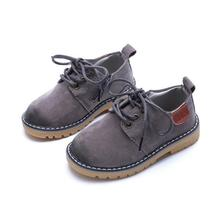 Kids Shoes Boys Martain Boots New Spring Solid Gentleman Fashion Boys Shoes Kids Soft Outdoor Girls Boots Shoes Size 21-36