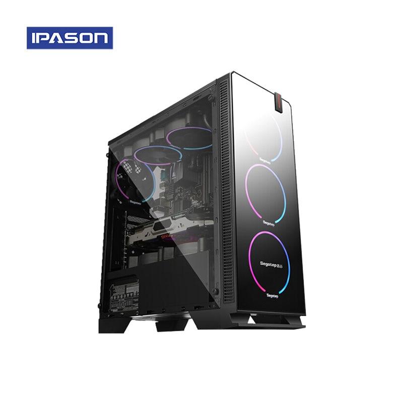 IPASON CHEAP Gaming PC AMD Ryzen5 2400G/B350M/RX580 8G Dedicated Card DDR4 16G RAM 1T+240GSSD Desktop Computer(China)