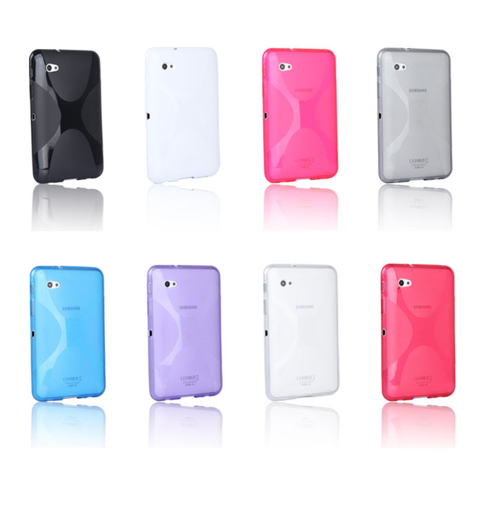 X-Line Soft TPU Silicon Case Silicone Rubber Gel Cover Skin case For Samsung Galaxy Tab 2 7.0 7 P3100 P3110 Tablet new x line soft clear tpu case gel back cover for samsung galaxy tab s2 s 2 ii sii 8 0 tablet case t715 t710 t715c silicon case