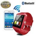 Dhl 50 pcs desgaste relogio u8 u8 bluetooth smart watch android smartwatch para apple xiaomi huawei pk dz09 relógio do telefone inteligente relógios