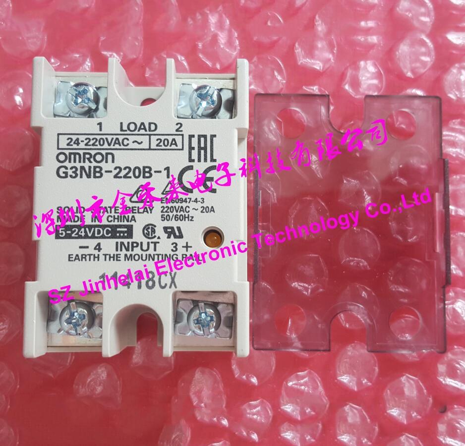 G3NB-220B-1 New and original OMRON SSR Solid state relay DC5-24V 20A 24-220VAC dhl eub 5pcs new original for omron solid state relay g3ta idzr02s 5 24vdc 15 18
