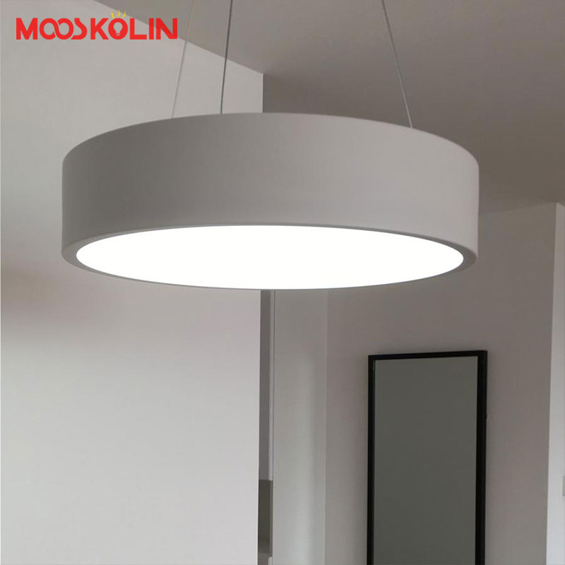 Modern D45/60CM Round circle Hanging lamp 85-265V Led Restaurant Dining room Kitchen Pendant light Household Suspend Lighting 85 265 v led crystal lamp the hotel lobby kitchen dining