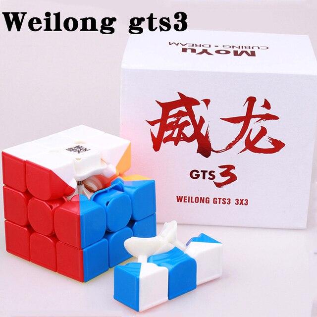 Фото магнитный скоростной куб moyu weilong gts gts3m профессиональный цена