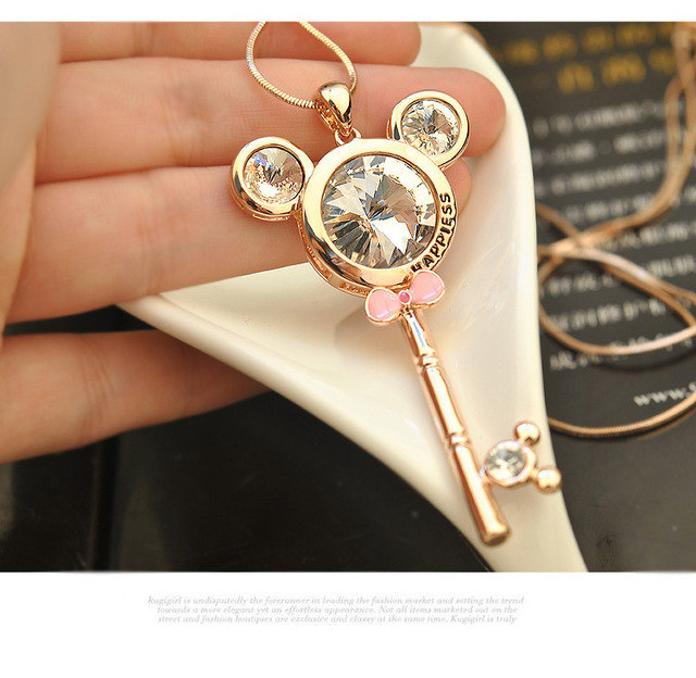 Trendy beautiful cartoon animal cute necklaces pendants long chain trendy beautiful cartoon animal cute necklaces pendants long chain female fashion jewelry making classic choker necklaces aloadofball Gallery