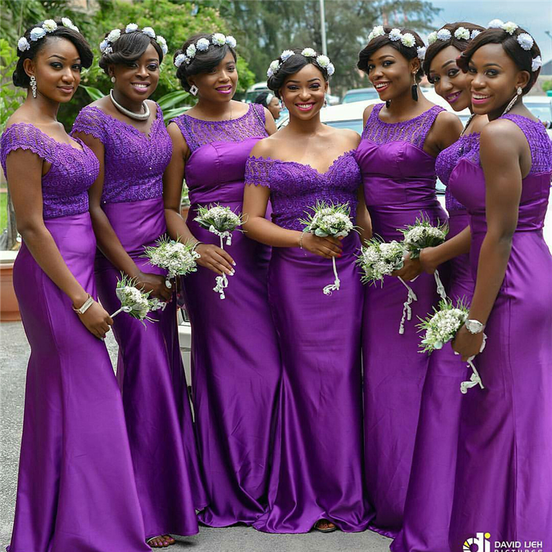 African Purple Bridesmaid Dresses – fashion dresses
