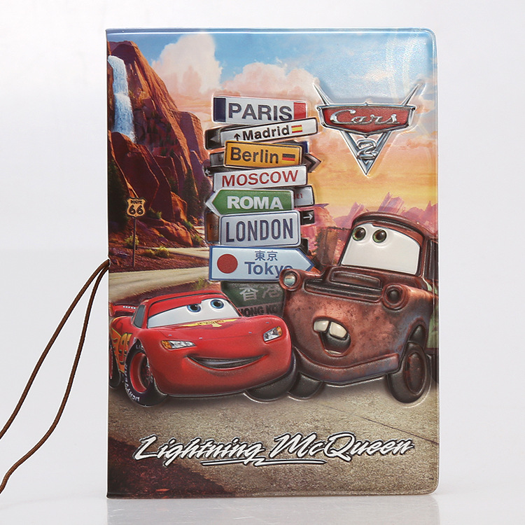 PU Cartoon Travel Accessories Passport Cover With Size 5.5''*3.8''-Cars-PLEX