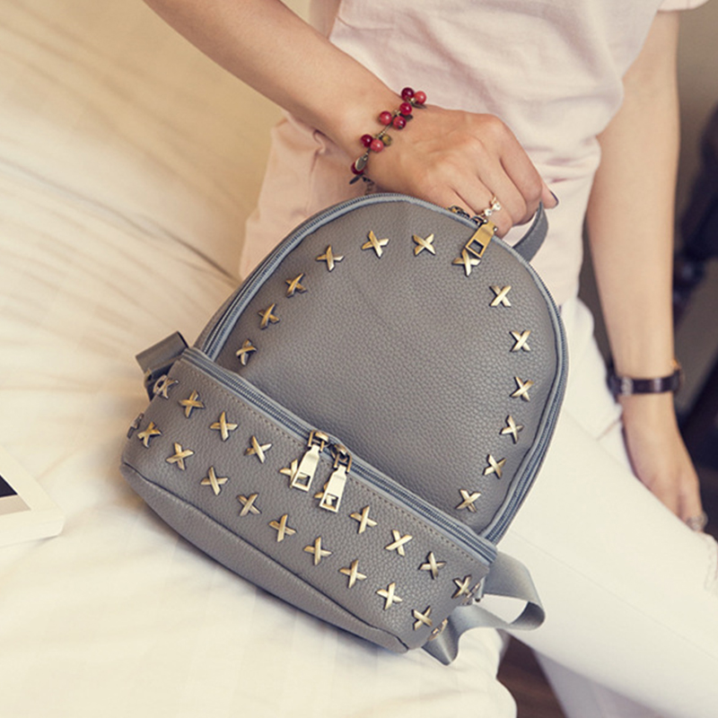 Simple Style Backpack Women PU Leather Backpacks For Teenage Girls School Bags Fashion Vintage Solid Shoulder Bag mochila