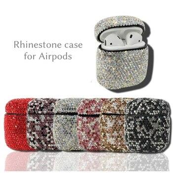 Housses de mode pour Airpods TWS i10 i12 étui Bluetooth strass étui anti-poussière de luxe pleine perceuse airpod couverture pour femmes filles