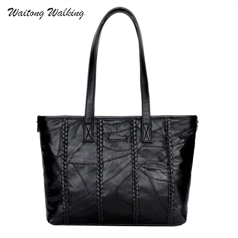 Luxury Handbags Women Bag Designer Leather Tote Ladies Bags Slit Pocket Soft Leather Knitting Black Bolsas Femininas b035 лонгслив native youth native youth na022emnuj35
