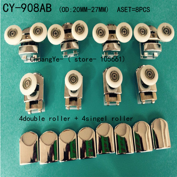 "Set of8 shower door rollers wheels pulleys runners ""Rolli"" CY-908AB"