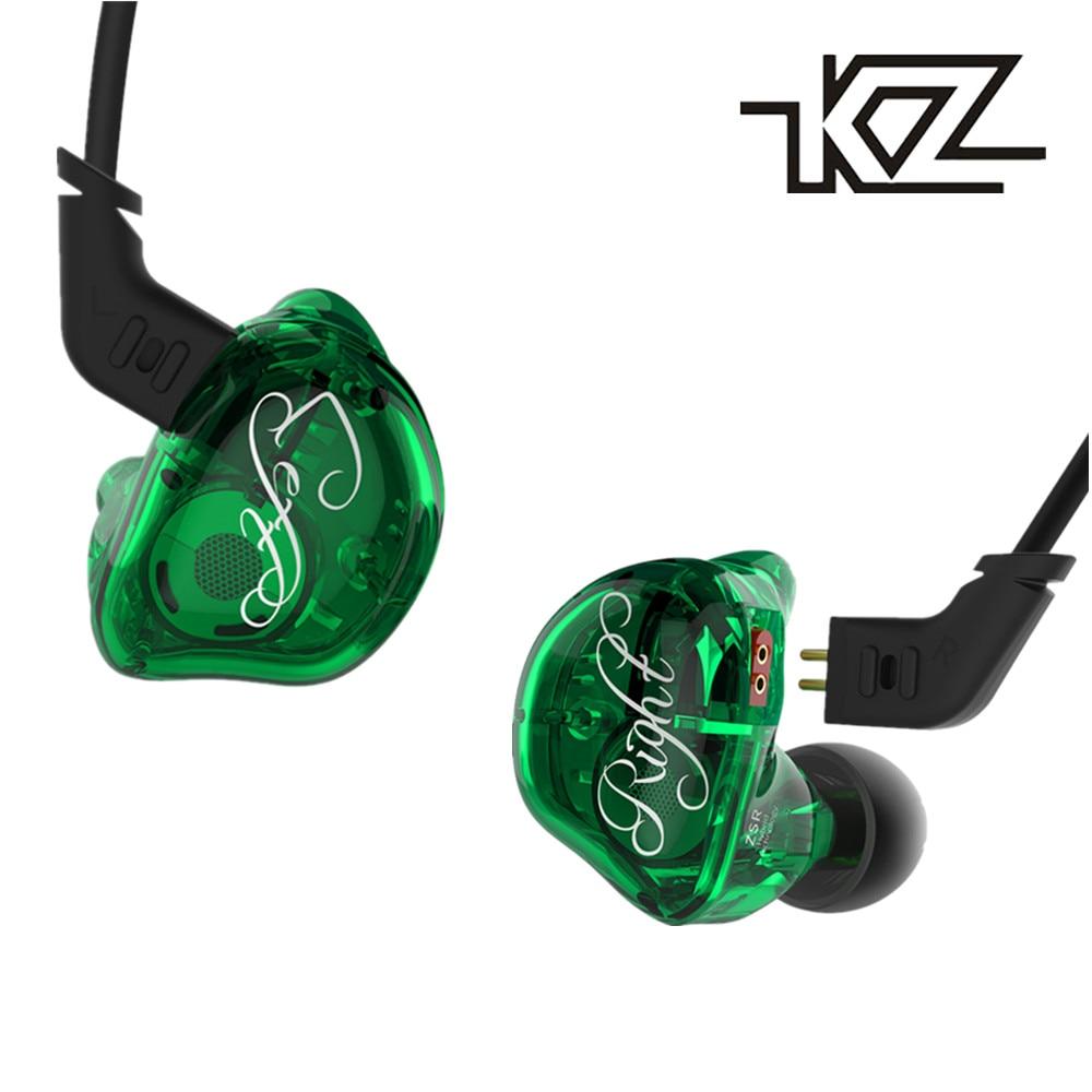 KZ ZSR 2BA + DD Écouteur Avec Mic Armature Avec Dynamique Hybride Casque HIFI Basse Antibruit Écouteurs Avec Remplacé câble