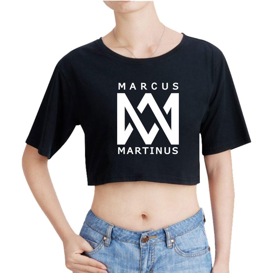 Marcus Martinus ของคุณเสื้อยืดลำลองกราฟิกตลกฤดูร้อนเสื้อยืดและกางเกงขาสั้นผ้าฝ้ายแขนสั้น Tee เสื้อเยี่ยมไป-ใน เสื้อยืด จาก เสื้อผ้าสตรี บน