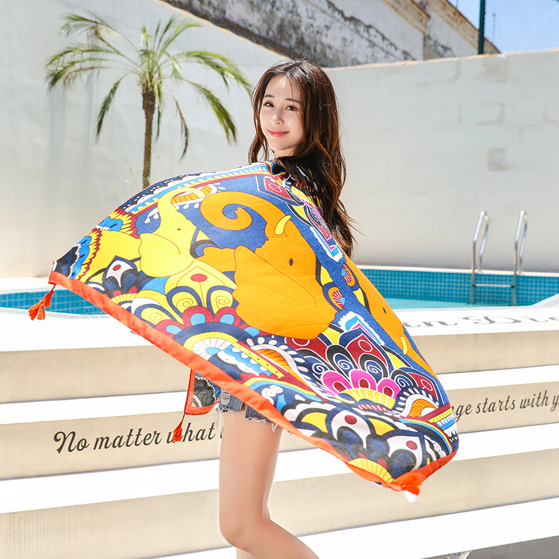 National Style Cotton Scarf Spring Summer Women's Ladies Scarves Multi-function Long Thin Sunscreen Beach Shawl Soft Hijab Wrap