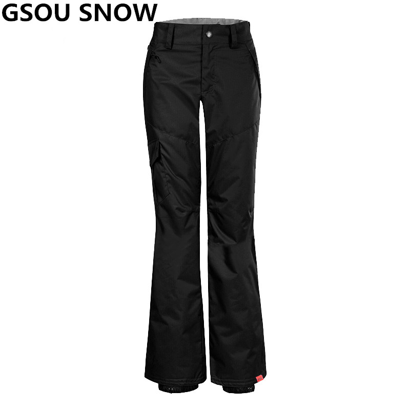 Gsou Snow Winter Ski Pant Women Waterproof Windproof Ski Trousers Snow pant outdoor Snowboard skiing Trousers Ski Clothing top woman snow pants outdoor sports snowboarding ski pant 10k waterproof windproof thicken warm winter snow trousers gsou snow