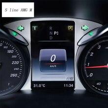 Автомобиль Стайлинг для Mercedes Benz GLC C класса W205 приборной панели автомобиля отделка кольцо украшения Обложки с наклейками интерьер авто аксессуары