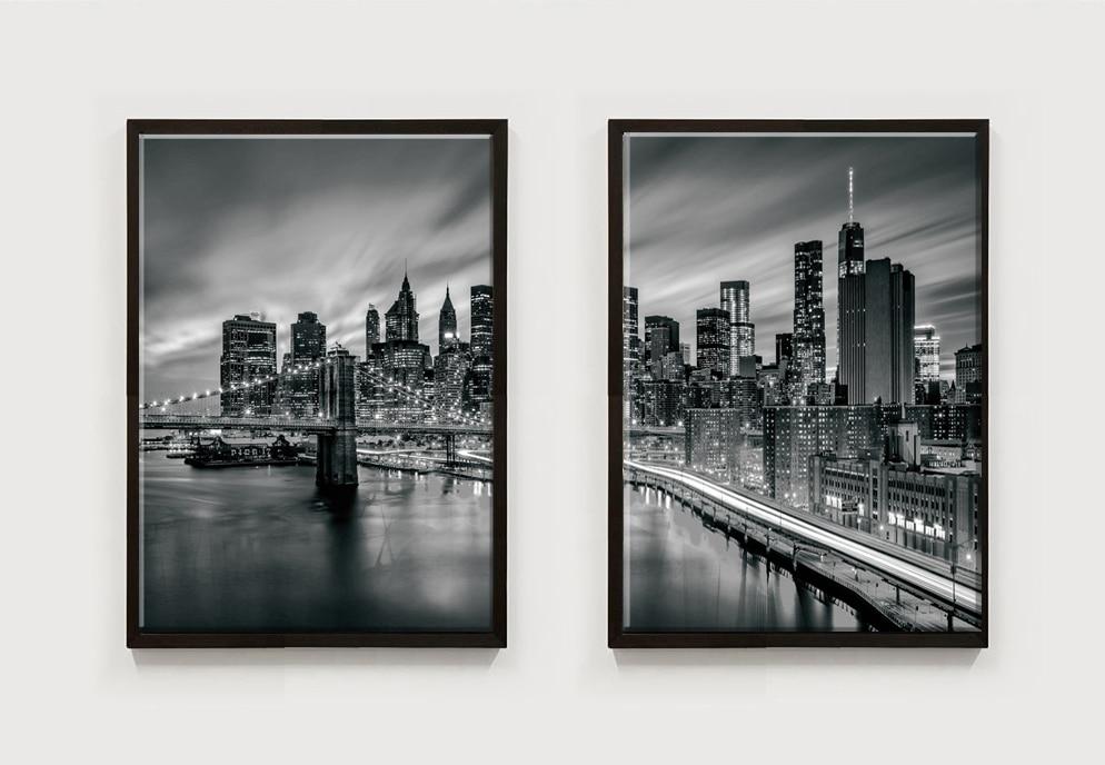 3 piese orașul New York Tablouri modulare pictură pe pânză Artă - Decoratiune interioara - Fotografie 5