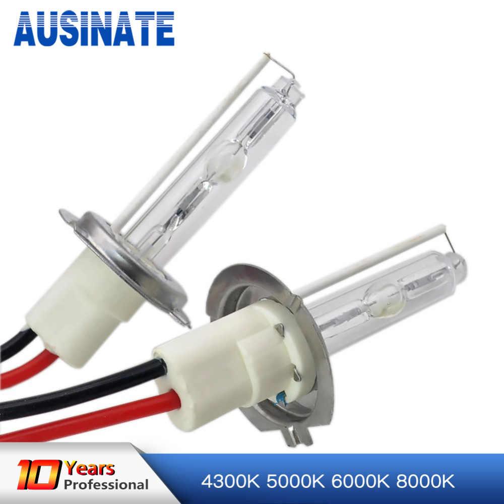 2 шт. 100 Вт H7 ксеноновая лампа H1 H3 H4 H11 9005 9006 автомобильные лампочки 4300 k 5000 k 6000 k 8000 k высокое Мощность HID Замена лампы