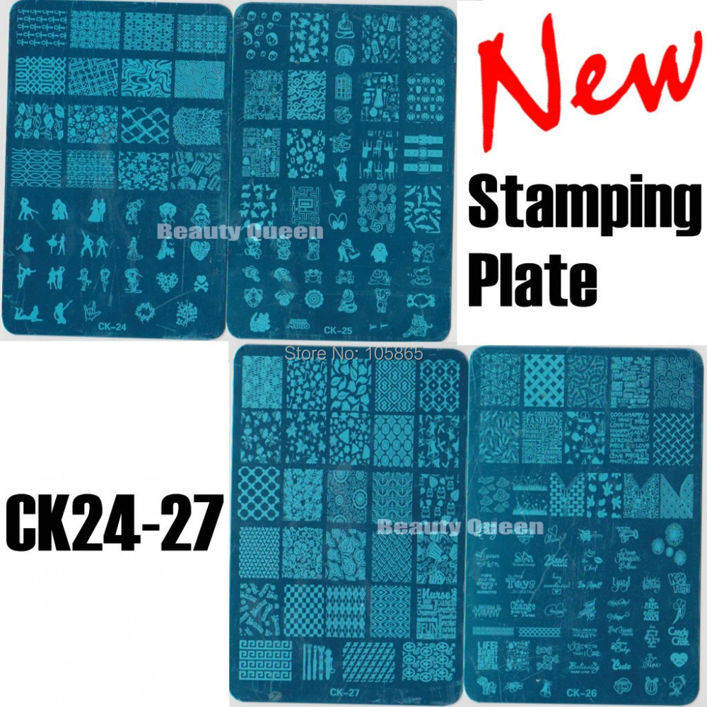 New 4 Style Xl Full Anime Designs Nail Sting Plate Art St Image Metal Stencil Template Transfer Polish Ck24 27 In Templates From