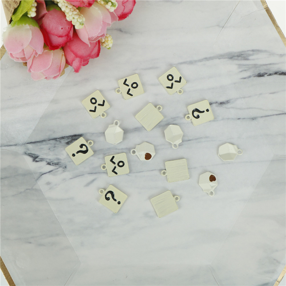 5pcs Charms Pendant DIY Jewelry Making Tools Question Mark Smile Face Milk Bottle Decoration