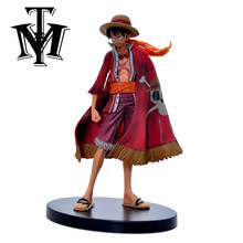 Anime One Piece Cool Monkey D Luffy 14 cm Action Figure Modelo Grandline Lady 15th hot crianças Toy Gift Collection boneca caixa original(China)