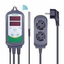 Inkbird ITC-308 wi fi plugue da ue digital controlador de temperatura termostato regulador, duplo relés 1 aquecimento & 1 refrigeração homebrewing