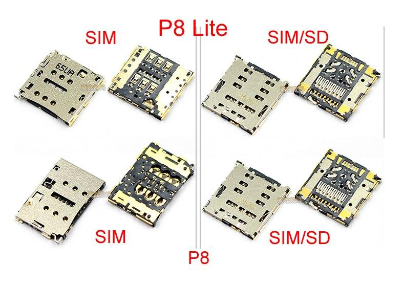 2 Pieces/lot Original SIM Card Reader Connector Junctor for Huawei P8 /P8 Lite Nano Sim Micro SD Card Tray Holder Module
